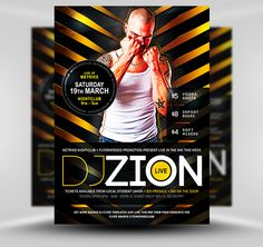 Zion Free DJ Flyer Template #Free #PSD #Photoshop #Flyer #Poster #Template #FlyerHeroes
