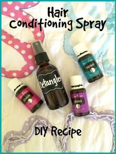DIY Hair Conditioning Spray with Essential Oils | The Blooming Carrot