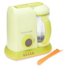 If you want to make your own baby food every mom we know swears by the Beaba Babycook Pro. It does everything but set the table. >> MBeans.com $149.99