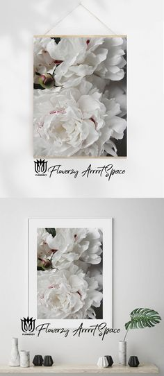 Peony Flower, Flowers, White Peonies, Etsy Handmade, Handmade Gifts, Kitchen Wall Art, Printable Art, Etsy Seller, White Colors