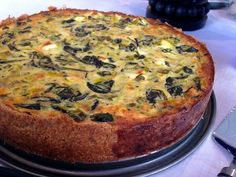 kesäkurpitsa-pinaatti-fetapiirakka / zucchini spinach and feta pie (gurmee) Savory Pastry, Savoury Baking, No Salt Recipes, Cooking Recipes, My Favorite Food, Favorite Recipes, Feta Cheese Nutrition, Good Food, Yummy Food