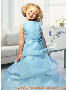 Best wedding dresses are custom-made for you online. Pretty Flower Girl Dresses, Satin Flowers, Best Wedding Dresses, Custom Made, Romantic, Disney Princess, Blue, Romance Movies, Romantic Things