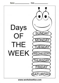 Days of the Week – 1 Worksheet / Worksheets