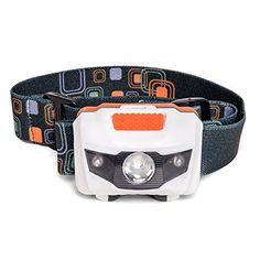 LED Headlamp  Great for Camping Hiking Dog Walking and Kids One of the Lightest 26 oz Headlight Best Flashlight Water  Shock Resistant with Red Strobe 3 AAA Duracell Batteries Included ** See this great product.