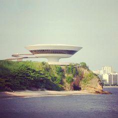 Niteroi Museum (1996) by Oscar Niemeyer (1907-2012)