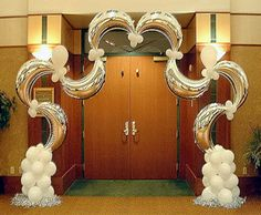 Funky Balloons Pty Ltd, Perth (WA) Balloon Gift & Decorations Delivery Balloon Columns, Balloon Arch, Balloon Garland, Balloon Ideas, Bridal Shower Balloons, Wedding Balloons, Wedding Stage Decorations, New Years Decorations, Helium Balloons