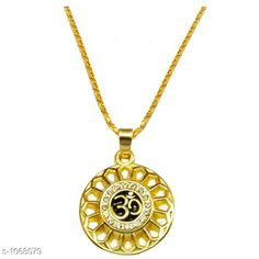 Jewellery Stylish Jewellery Set  *Material* Zinc And Brass  *Size* Free Size  *Description* It Has 1 Piece Of Om Yoga Pendant Necklace  *Work* Embellished  *Sizes Available* Free Size *    Catalog Name: Amazing Stylish Jewellery Set Vol 12 CatalogID_130585 C65-SC1227 Code: 951-1068079-