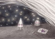 Space+Cone+small+print+by+firefluff+on+Etsy,+$13.00