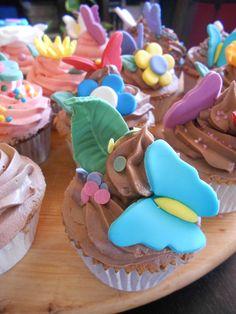 Cupcakes para el cumple de Andrea