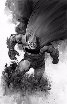 Batman by Eric Powell * Dark Knight Returns Joker, Batman The Dark Knight, Batman And Batgirl, I Am Batman, Gotham Batman, Batman Robin, Frank Miller Art, Batman Artwork, Batman Universe