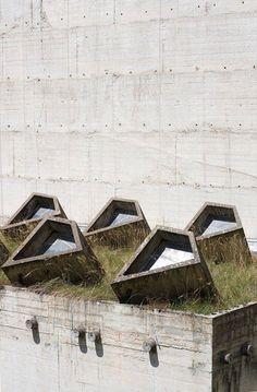 #concrete in #architecture Sainte Marie de la Tourette by  Le Corbusier #archisbumission by Ilenia Fascella