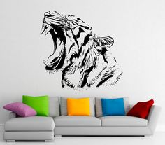 Tiger Wall Decal Vinyl Stickers Predator Animals by BestDecalsUSA