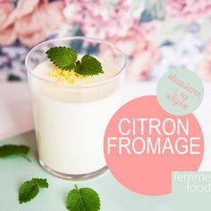 Citronfromage Tenerife, Stevia, Gluten Free Recipes, Free Food, Glass Of Milk, Mousse, Panna Cotta, Mad, Lemon