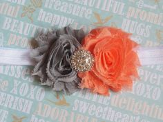 SALE-Shabby chiffon flower headband baby headband by chicnclassy