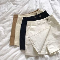 Summer Skirt Shorts Women's Casual High Waist Shorts Womens Plus Size Clothing For Women Spodenki Damskie Short Feminino Short Outfits, Cool Outfits, Casual Outfits, Women's Casual, Casual Summer, Plus Size Casual, Plus Size Outfits, Short Skirts, Mini Skirts