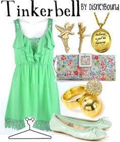 Tinkerbell, Peter Pan, I haven't really found a Tinkerbell outfit I like but this one is okay.