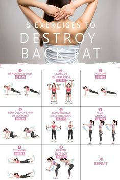 This is the best 20 minutes workout plan to lose back fat. This is the best 20 minutes workout plan to lose back fat. For more workout pl… This is the best 20 minutes workout plan to lose back fat. For more workout plans visit the hust. Best 20 Minute Workout, Best Back Workout Routine, Back Fat Workout, At Home Workout Plan, Back Fat Exercises At Home, Tone Arms Workout, Upper Back Exercises, Arms And Back Workout At Home, Beginner Back Workout