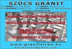 Gránit Sírkő 10% kedvezménnyel, Monor, Kecskemét, Cegléd, Kerepes [www.vidfred.multiapro.com]