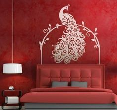Peacock Wall Decal sticker  Animal Wall Decal  by Walldecorative, $23.99