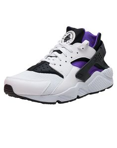 NIKE Low top sneaker Lace up closure Padded tongue with NIKE HUARACHE logo Stretch fabric for perfor... True to size. Synthetic materials. White 318429-105.