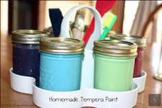 Homemade tempera paint