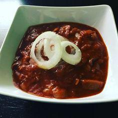 Hlívový guláš - Jídélko.cz Goulash, Meatloaf, Sausage, Stuffed Mushrooms, Food And Drink, Low Carb, Pudding, Diet, Kitchens