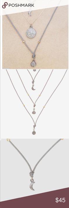NEW La Soula Fly With Us Collection 75%off!! La Soula Fly With Us Collection diamond MOON Necklace 75%off!! NWOT celebrity favorite!! La Soula Jewelry Necklaces
