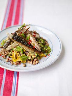 griddled mackerel with a courgette & bean salad   Jamie Oliver   Food   Jamie Oliver (UK)