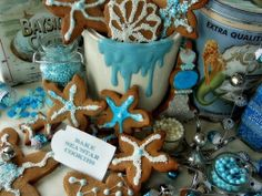 Coastal Christmas cookies by A Quiet Life.