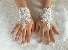 Flower Girl lace gloves ivory bridal gloves french lace for princess wedding gloves, lace glove, Bridesmaid gloves Blue White Weddings, Lace Weddings, Tulle Wedding, Bridal Lace, Dream Wedding, Lace Flower Girls, Flower Girl Dresses, Wedding Dressses, Hippy Chic