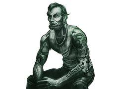 Badass Abe Lincoln $5 Tattoo T-Shirt