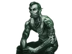 Badass Abe Lincoln $5 Tattoo T-Shirt
