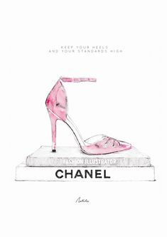 High Heels Fashion Illustration Art Print