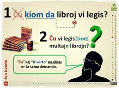 """Nova bildokarto pri """"ĉu"""" x """"k-vorto"""" #migo #esperanto #gramatiko #gramatikaro #ĉu #kiom #kiomda #libro #legi #multa #demando #akuzativo"""