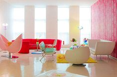 Apartment Design, Discount Living Room Sets Integrate With Colorful Loft By Karim Rashid 8: Awesome Patterns and Colors Collide in Vivid New...