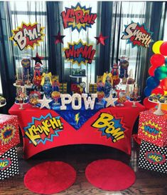 Birthday Party Decorations For Boys Super Heros Baby Shower 55 Ideas – Party Ideas Superman Birthday Party, Birthday Party Desserts, Avengers Birthday, Birthday Party Tables, Boy Birthday Parties, Birthday Party Decorations, Superhero Party Decorations, Superhero Theme Party, Spy Party