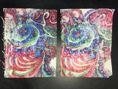 Liquid Watercolor printmaking by New Mexico art teachers.