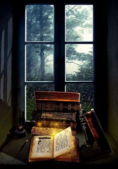 sonia-in-a-bookish-world: There's always a little bit of magic in rainy days… Rainy Day Read by FictionChick I Love Books, Books To Read, World Of Books, Old Books, Pics Of Books, Book Nooks, Library Books, Book Nerd, Book Quotes