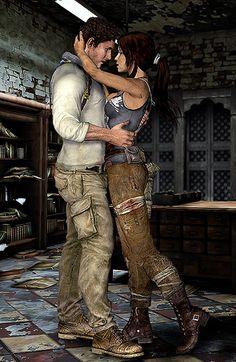 Nathan Drake <3 Lara Croft