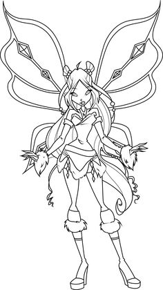 Winx Club Coloring Pages Flora Colors Dibujo Quote Colouring Plants Books