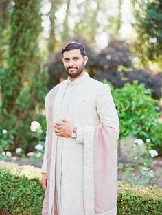 Photography: Michele Beckwith Photography - undefined   Read More on SMP: /2020/05/29/when-an-east-indian-wedding-meets-an-italian-villa-magic-happens/ Beautiful Couple, Most Beautiful, Wedding Kurta For Men, Italian Villa, Wedding Planning, High Neck Dress, The Incredibles, Magic, Sherwani