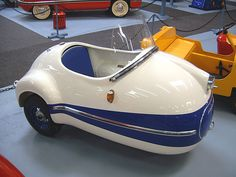 The Brutsch Mopetta is a great microcar. It is one of my favorite microcars because of it's extremely small body. Microcar, Strange Cars, Weird Cars, Quad, Automobile, Kabine, Cute Cars, Funny Cars, Pedal Cars