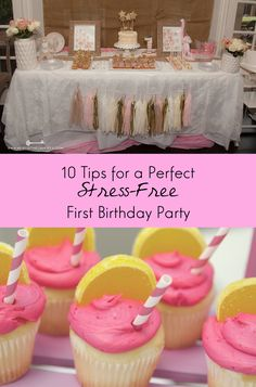 10 Easy Tips, Guaranteed to Make Your Child's First Birthday Party Perfect. Never stress about a party again! From http://blog.cuteheads.com. #party