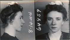 vintage mug shots Big Shoulders, How To Get Away, Mug Shots, Freckles, White Flowers, Her Hair, Life Crisis, Photo Booths, Mugs