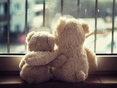 Two Teddy Bears at the Window ....