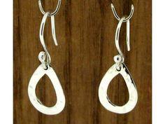 Hammered Teardrop Silver Earrings (591) | Silver Bubble: https://silverbubble.co.uk/hammered-teardrop-silver-earrings-591