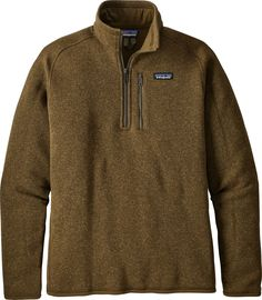 a54b7cea Patagonia Men's Better Sweater 1/4 Zip Fleece Pullover, Brown Fleece  Sweater, Mens