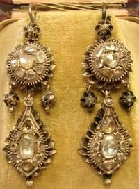 1830's Gold and Diamond Earrings