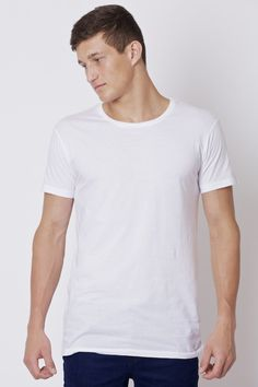 SILENT THEORY Overcrotch Tee White