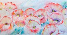 Mohn, Aquarell, poppies, watercolor, painting, flower painting, summer flowers, nature, wild flower, poppies watercolor, veredit, Isabella Kramer,
